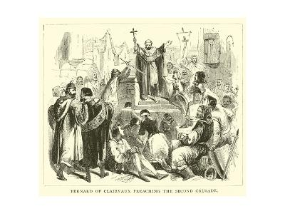 Bernard of Clairvaux Preaching the Second Crusade--Giclee Print