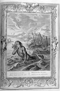 Glaucus Turned into a Sea God, 1733 by Bernard Picart