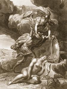 Perseus Cuts Off Medusa's Head, 1731 (Engraving) by Bernard Picart