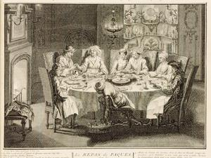 Portuguese Jews Celebrating the Feast of Passover, Illustration from 'Religious Ceremonies and… by Bernard Picart