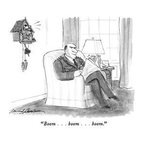 """""""Boom . . . boom . . . boom."""" - New Yorker Cartoon by Bernard Schoenbaum"""