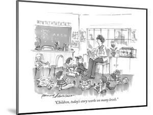 """Children, today's story works on many levels."" - New Yorker Cartoon by Bernard Schoenbaum"