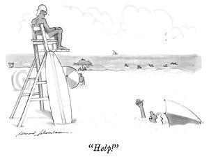 """""""Help!"""" - New Yorker Cartoon by Bernard Schoenbaum"""