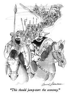 """This should jump-start the economy."" - New Yorker Cartoon by Bernard Schoenbaum"