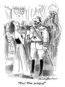 """""""Wow!  What packaging!"""" - New Yorker Cartoon by Bernard Schoenbaum"""