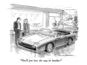 """""""You'll just love the way he handles."""" - New Yorker Cartoon by Bernard Schoenbaum"""