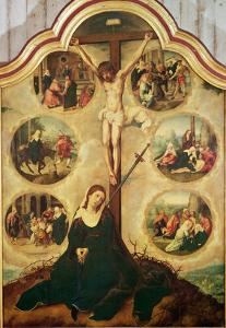 Central Panel of a Triptych Depicting the Seven Sorrows of the Virgin, c.1520-35 by Bernard van Orley