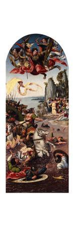 Moses Parting the Red Sea in the Presence of Saint Michael by Bernard van Orley