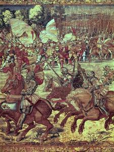 The Battle of Pavia, 24 February 1525 by Bernard van Orley