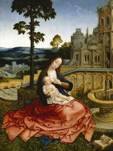 The Virgin and Child by a Fountain by Bernard van Orley