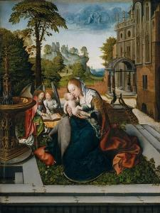Virgin and Child with Angels, c.1518 by Bernard van Orley