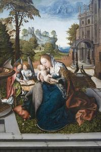 Virgin and Child with Angels by Bernard van Orley