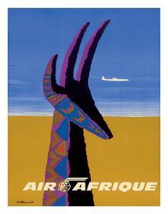 Air Afrique - Gazelle by Bernard Villemot