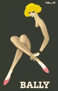 Bally Shoes by Bernard Villemot