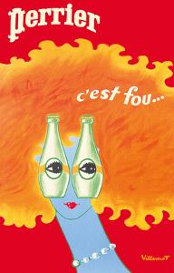 It's Crazy (C'est Fou Eyes) - Perrier Sparkling Water by Bernard Villemot