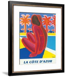 La Côte d'Azur - South of France - French Riviera by Bernard Villemot