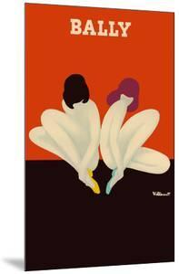 Lotus - Women Sitting Together - Bally Shoes by Bernard Villemot