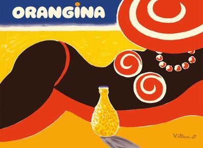 Orangina Sparkling Soda - Beach Bikini Ad