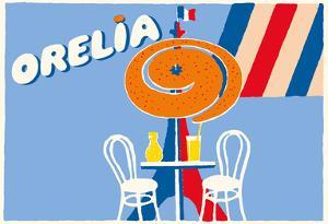 Orelia (Orangina) Beverage - Eifel Tower, Paris by Bernard Villemot