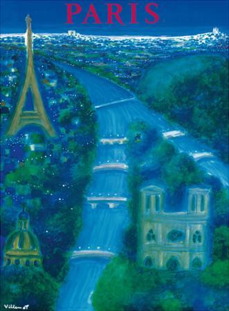 Paris - River Seine, Eiffel Tower, Notre Dame