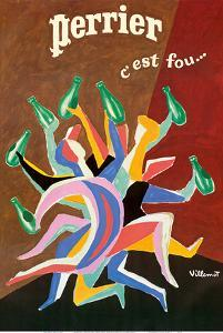 Perrier - It's Crazy (C'est Fou) - Sparkling Mineral Water by Bernard Villemot