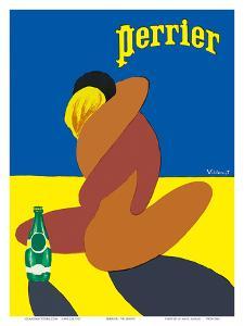 Perrier: Nude Lovers, c.1980 by Bernard Villemot