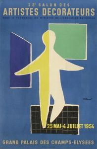 Salon des Artistes Décorateurs 1954 by Bernard Villemot