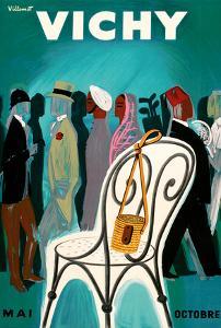 Vichy, France - Resorts and Spas - May through October (Mai-Octobre) by Bernard Villemot