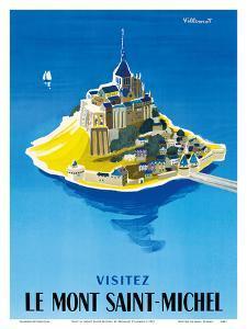 Visit Le Mont Saint-Michel - Normandy, France by Bernard Villemot