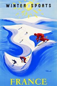 Winter Sports-France by Bernard Villemot