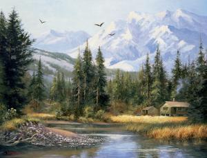 Cabin in the Foothills by Bernard Willington
