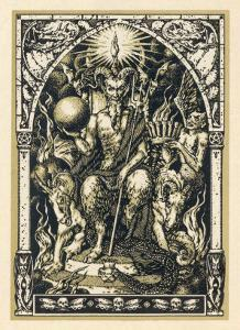 Satan Presides at the Sabbat Attended by Demons in Human or Animal Shapes by Bernard Zuber
