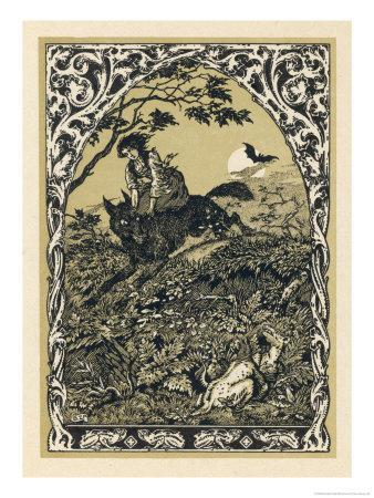Wolf Carries Young Guillemette to Meet Its Master Satan: in the Forest It Becomes an Old Hag