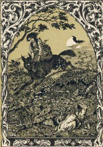 Wolf Carries Young Guillemette to Meet Its Master Satan: in the Forest It Becomes an Old Hag by Bernard Zuber