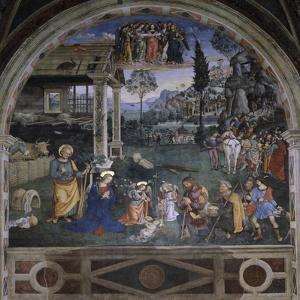 Adoration of the Shepherds by Bernardino di Betto Pinturicchio