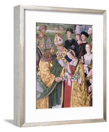 Aeneas Sylvius Piccolomini (1405-64) Presents Eleonora of Aragon to Frederick III (1415-93),…