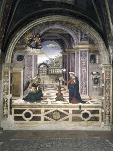 Annunciation by Bernardino di Betto Pinturicchio