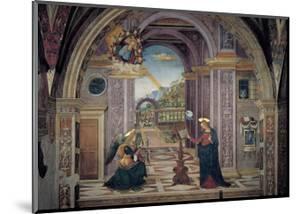 Annunciation by Bernardino  di Betto (Pinturicchio)