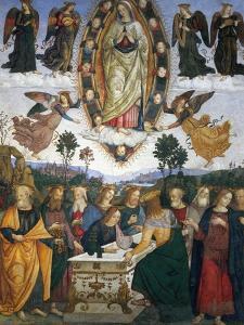 Assumption of the Virgin by Bernardino di Betto Pinturicchio