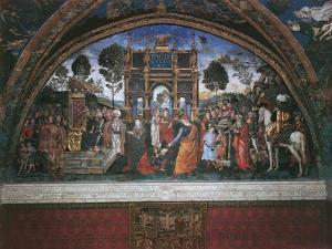 Dispute of St. Catherine (With Emperor Maximian) by Bernardino di Betto Pinturicchio
