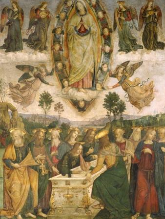 The Assumption of the Virgin by Bernardino di Betto Pinturicchio