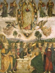 The Assumption of the Virgin by Bernardino di Betto Pinturicchio