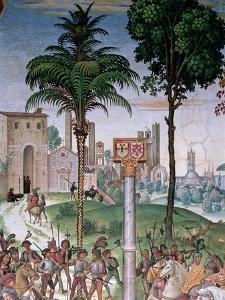 View of Siena with the Cathedral and Porta Camollia by Bernardino di Betto Pinturicchio