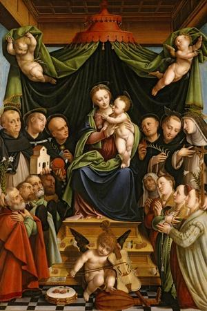 Madonna and Child Enthroned with Saints and Donors, 1552