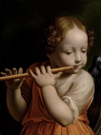 Child Angel Playing a Flute, C.1500