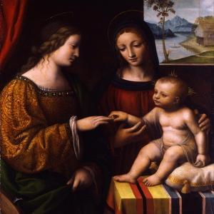 The Mystical Marriage of Saint Catherine, C. 1520 by Bernardino Luini
