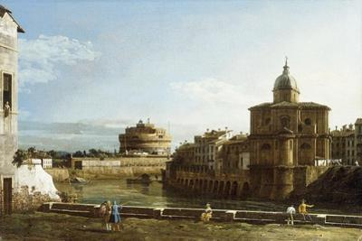 A View of Rome along the Tiber, with the Church of San Giovanni dei Fiorentini beyond
