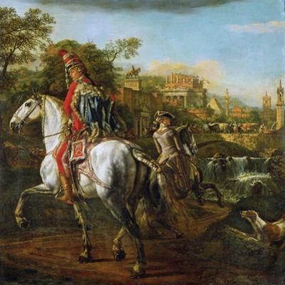 Equestrian Portrait of a Hussar Officer, 1773