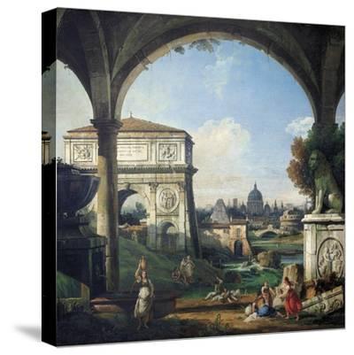 Roman Capriccio with Triumphal Arch