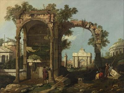 Ruins and Figures, Outskirts of Rome Near the Tomb of Cecilia Metella, C.1750-1775